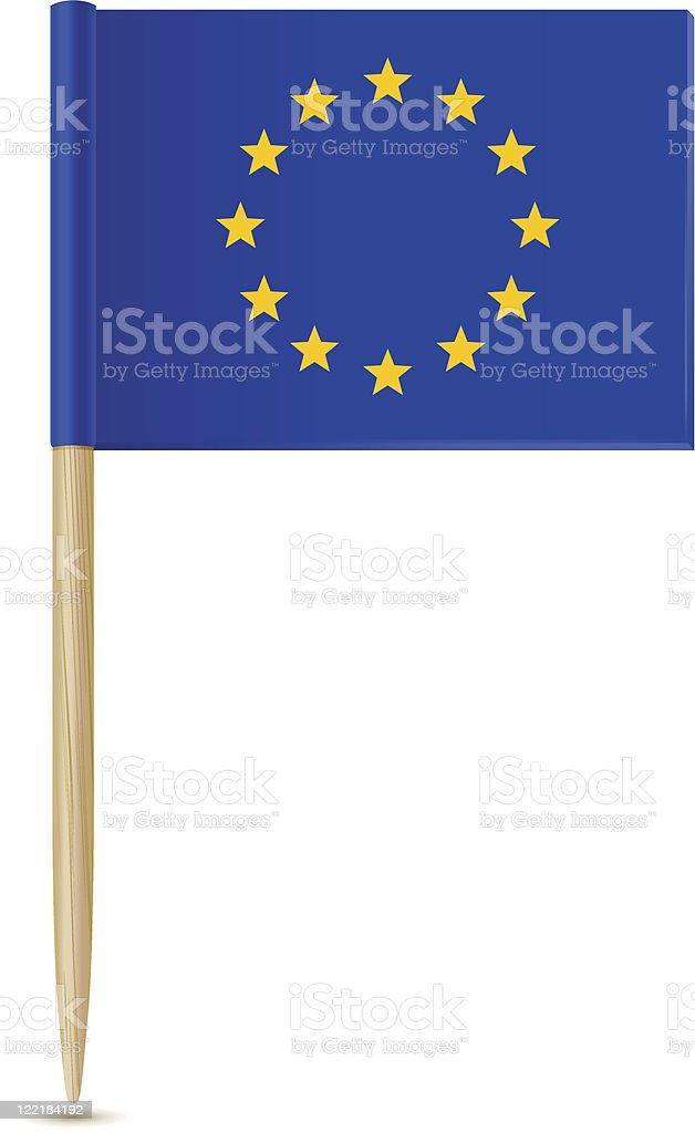 Official flag of european union toothpick royalty-free stock vector art