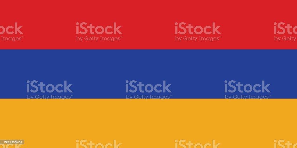 Official vector flag of Armenia . Republic of Armenia . vector art illustration