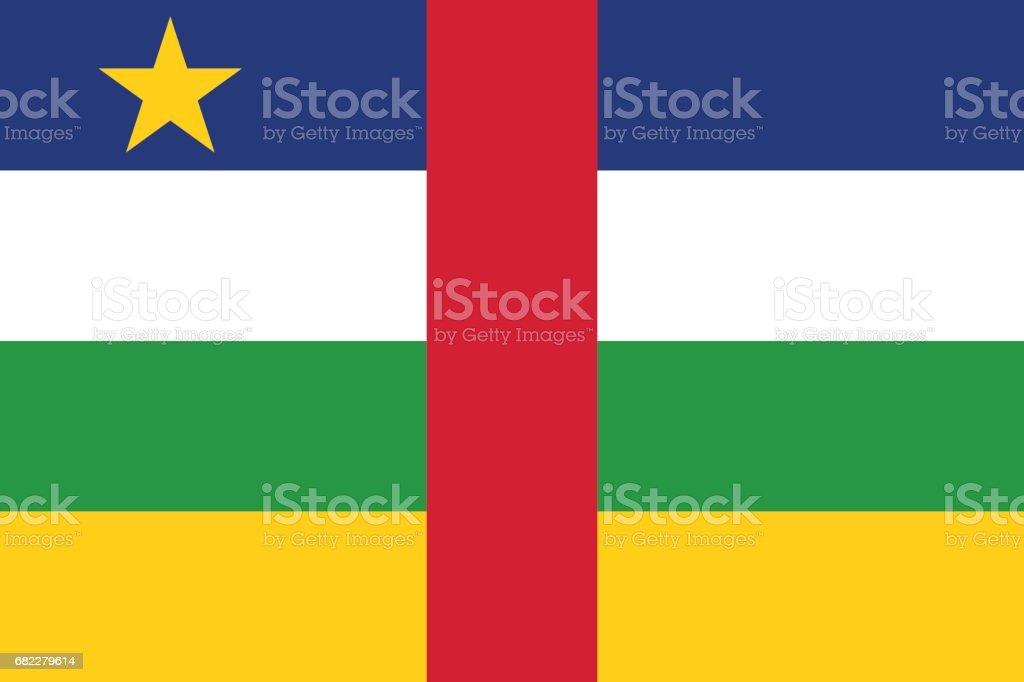 Official vector flag of Central African Republic . ( CAR ) vector art illustration