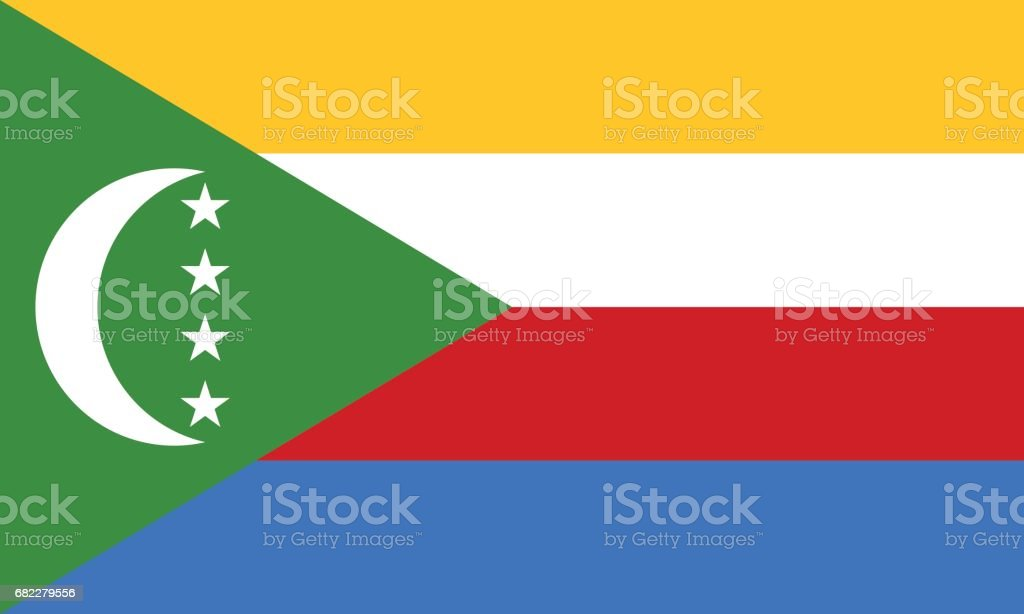 Official vector flag of Comoros . Union of the Comoros . vector art illustration