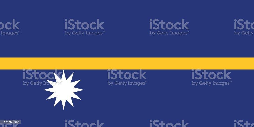Official vector flag of Nauru . Republic of Nauru . vector art illustration