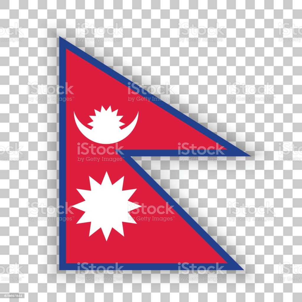 Official vector flag of Nepal . Federal Democratic Republic of Nepal . vector art illustration