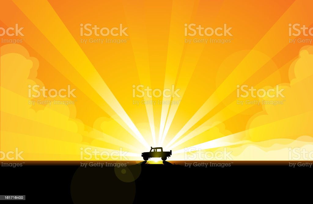 Offroad Adventure royalty-free stock vector art