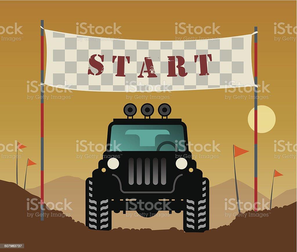 Off-road race vector art illustration
