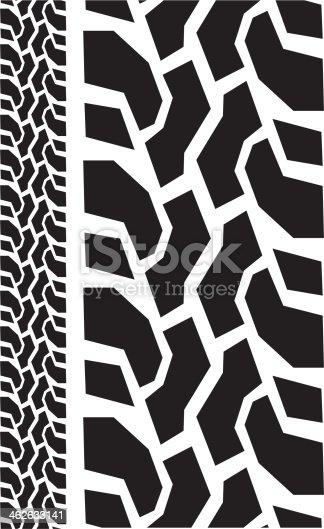 Offroad Tire Tread Close Up Stock Vector Art 462633141