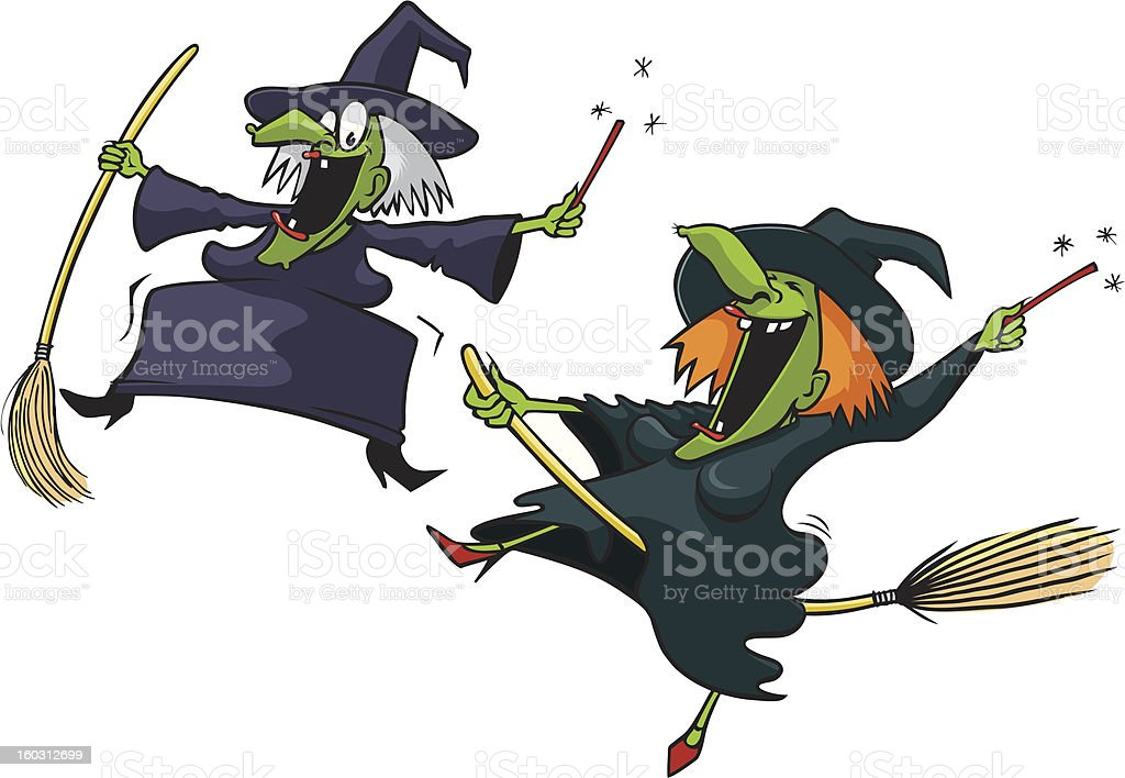 Oh you Crazy Witch royalty-free stock vector art