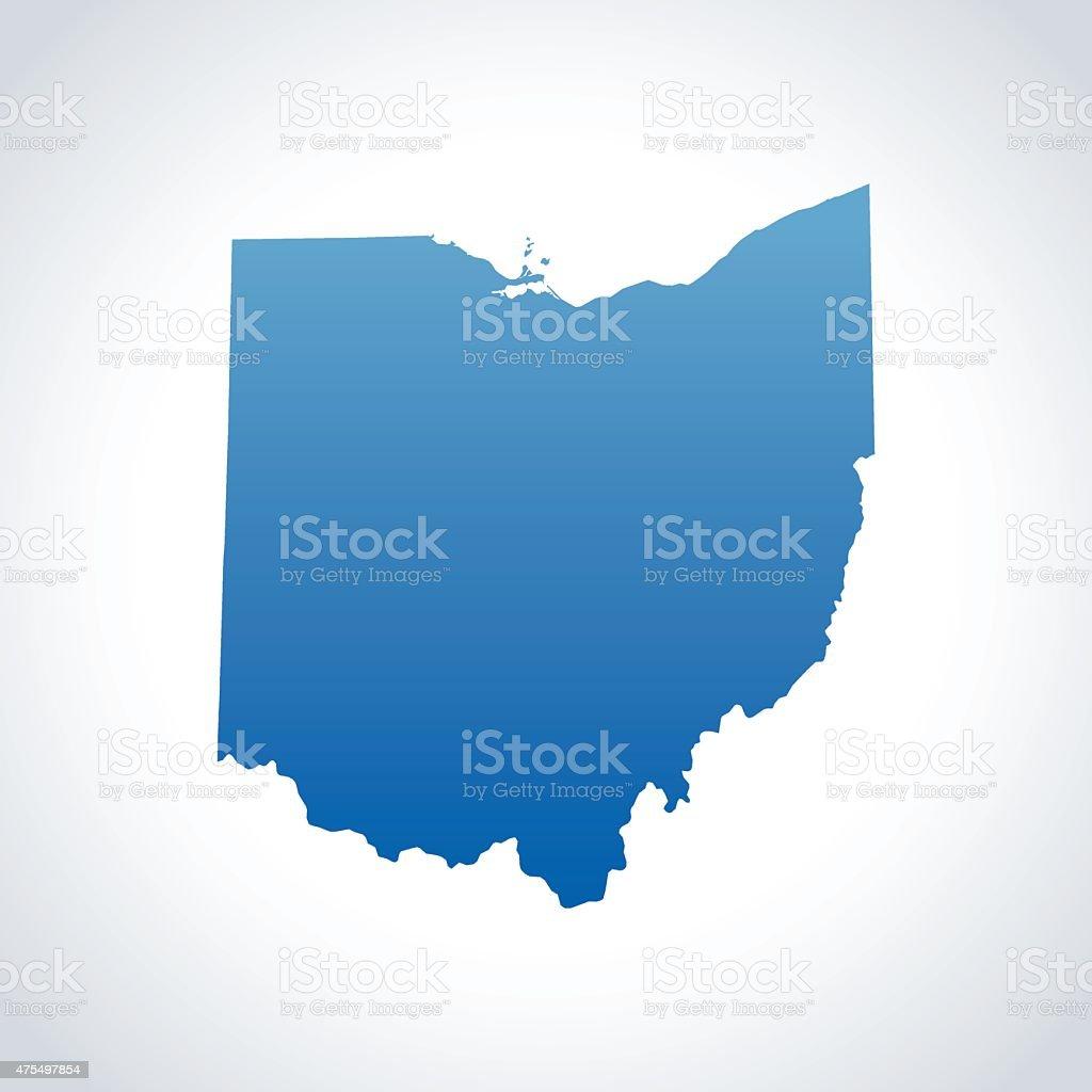 Ohio Map vector art illustration