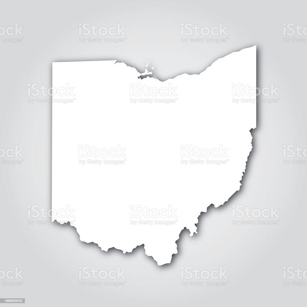 Ohio Silhouette White vector art illustration