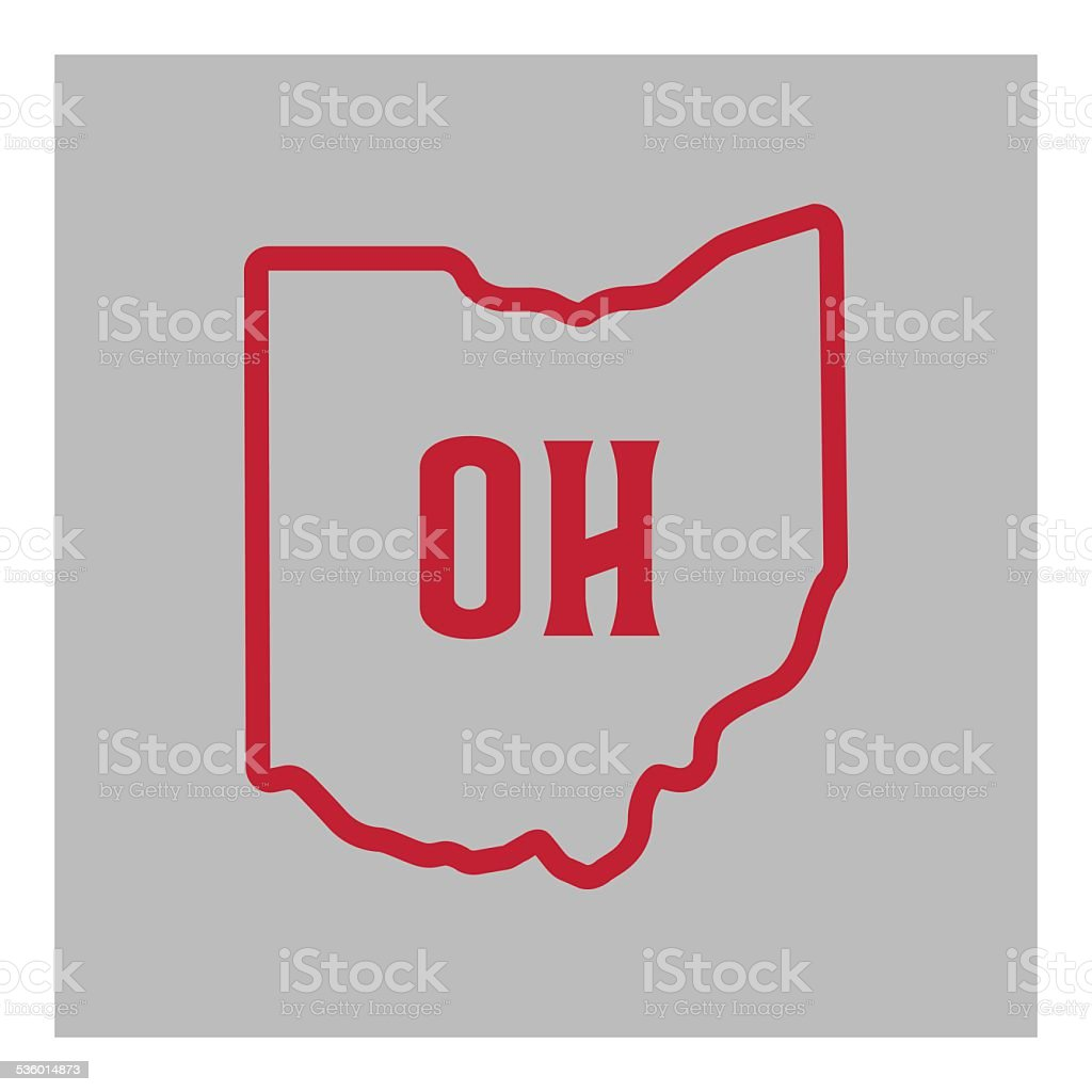 Ohio State Outline vector art illustration