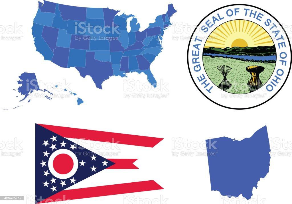 Ohio state set royalty-free stock vector art