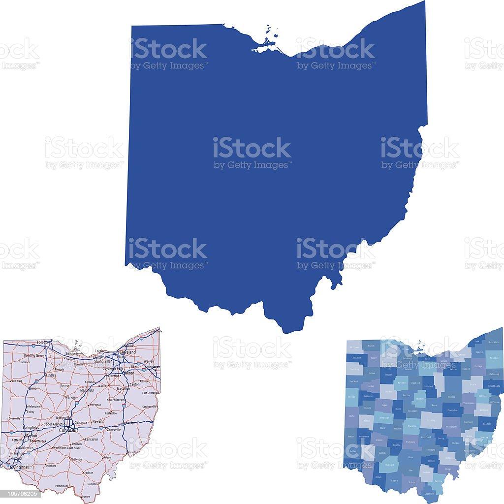 Ohio vector art illustration
