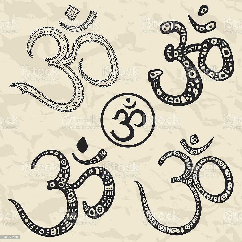 Ohm. Om, Aum Symbol set. royalty-free stock vector art
