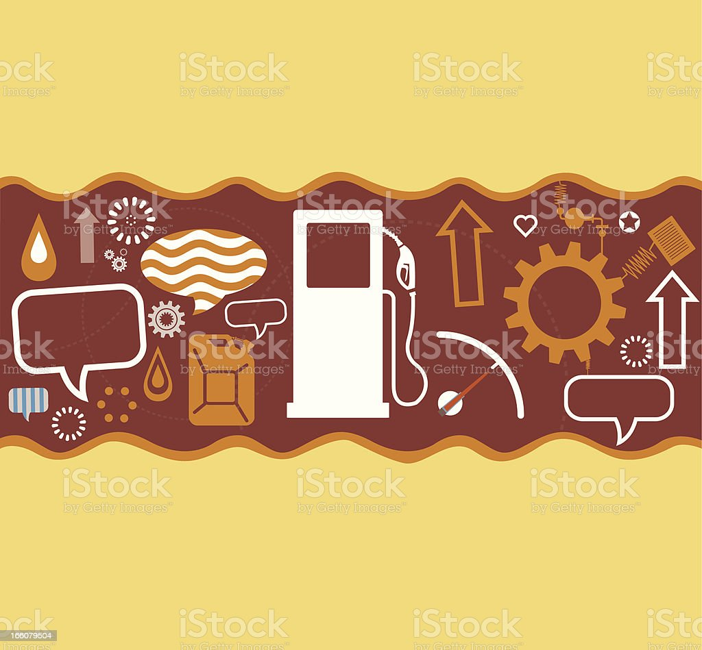 Oil and Communication royalty-free stock vector art