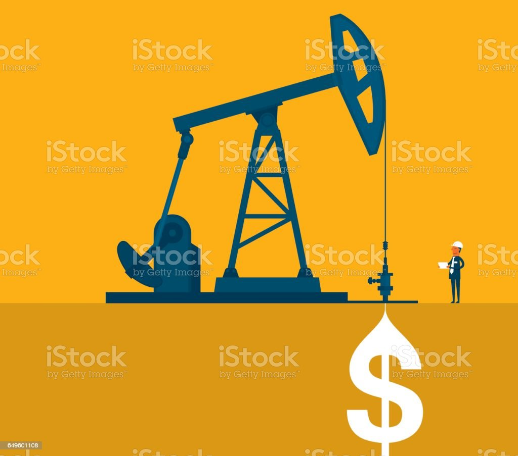 Oil and gas business vector art illustration