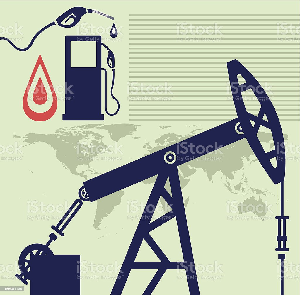 Oil and Production royalty-free stock vector art