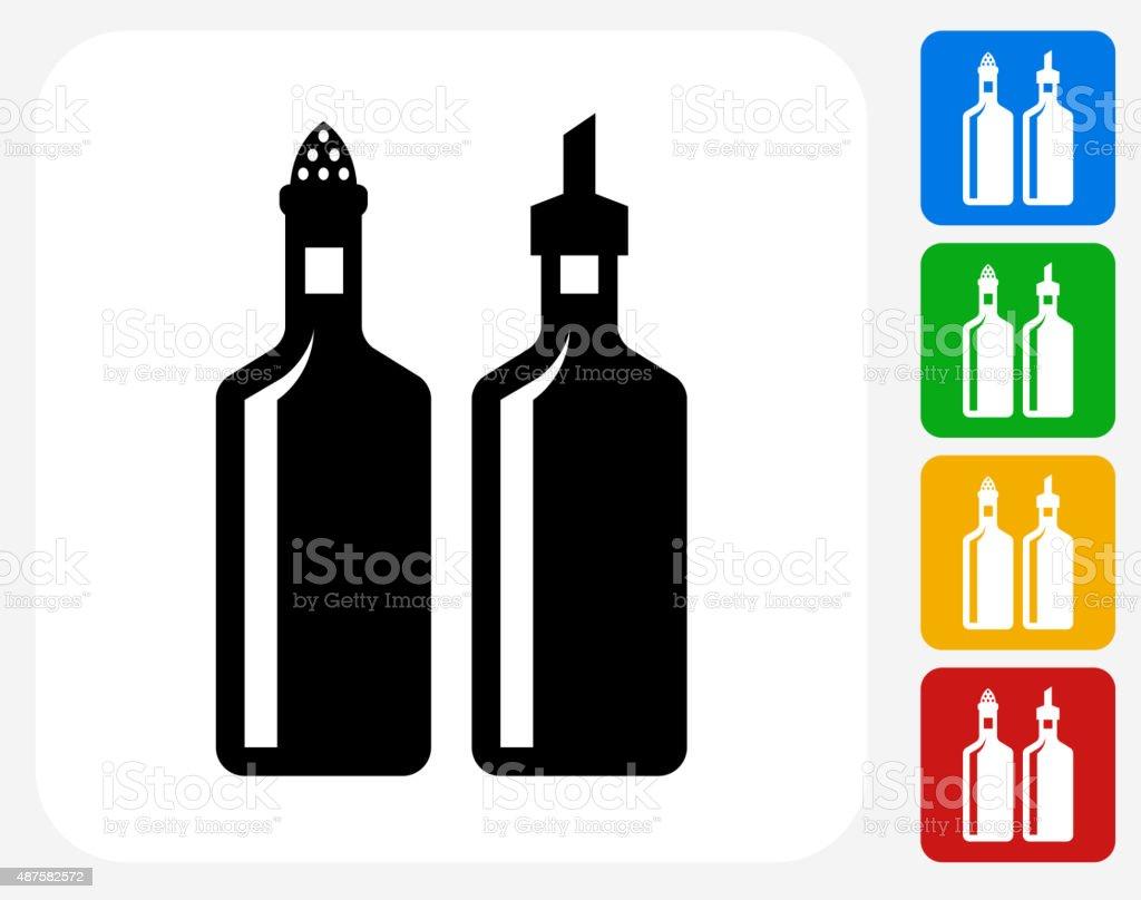 Oil and Vinegar Icon Flat Graphic Design vector art illustration