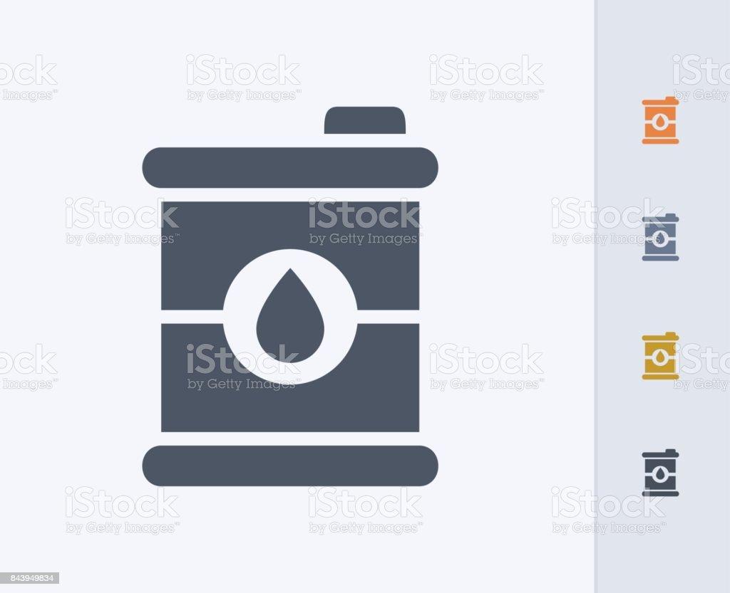 Oil Barrel - Carbon Icons vector art illustration