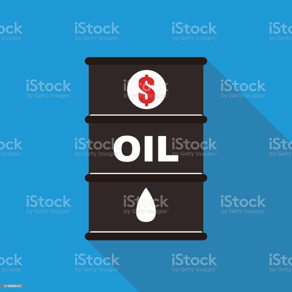 oil barrel, gas, money, business vector art illustration