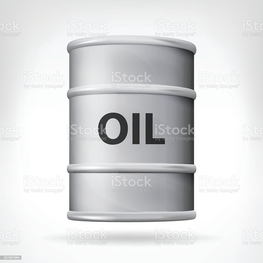 oil barrel object front view vector art illustration
