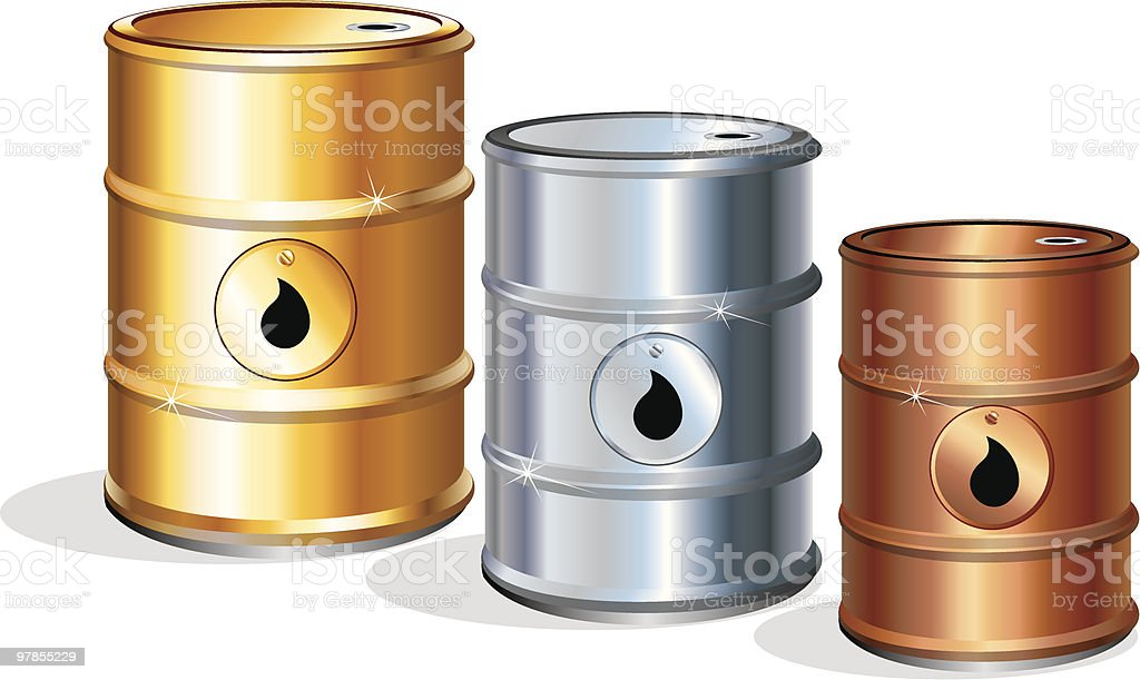 Oil barrels Prize. royalty-free stock vector art