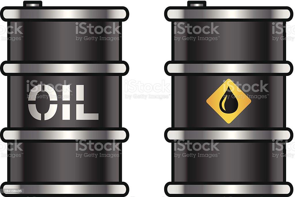 Oil barrels vector art illustration