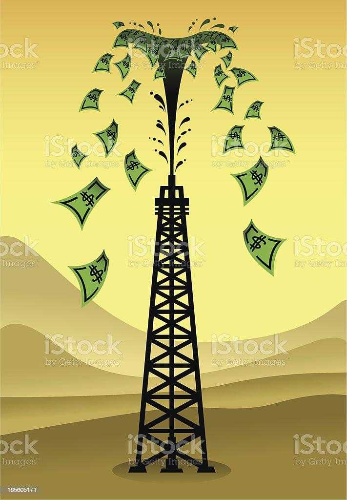 Oil - Black Gold royalty-free stock vector art
