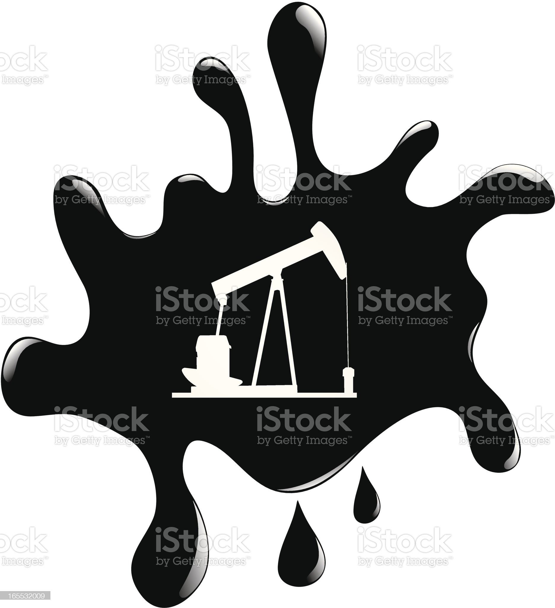 Oil Blob and Pumpjack royalty-free stock vector art