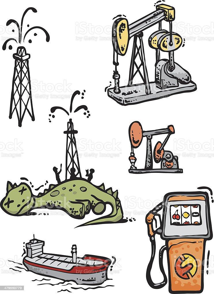 Oil Bonus Pack vector art illustration