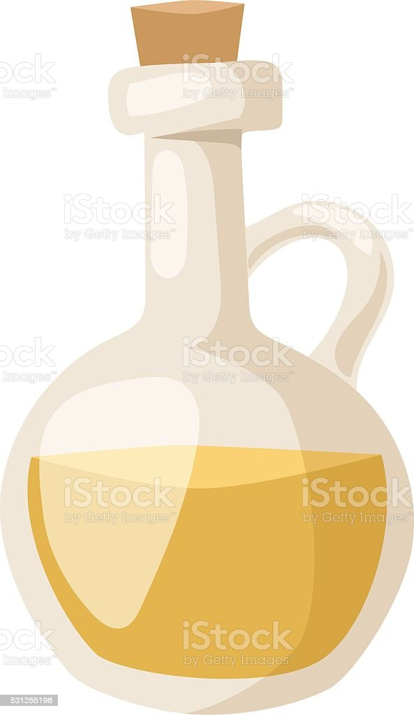 Oil bottle vector illustration vector art illustration