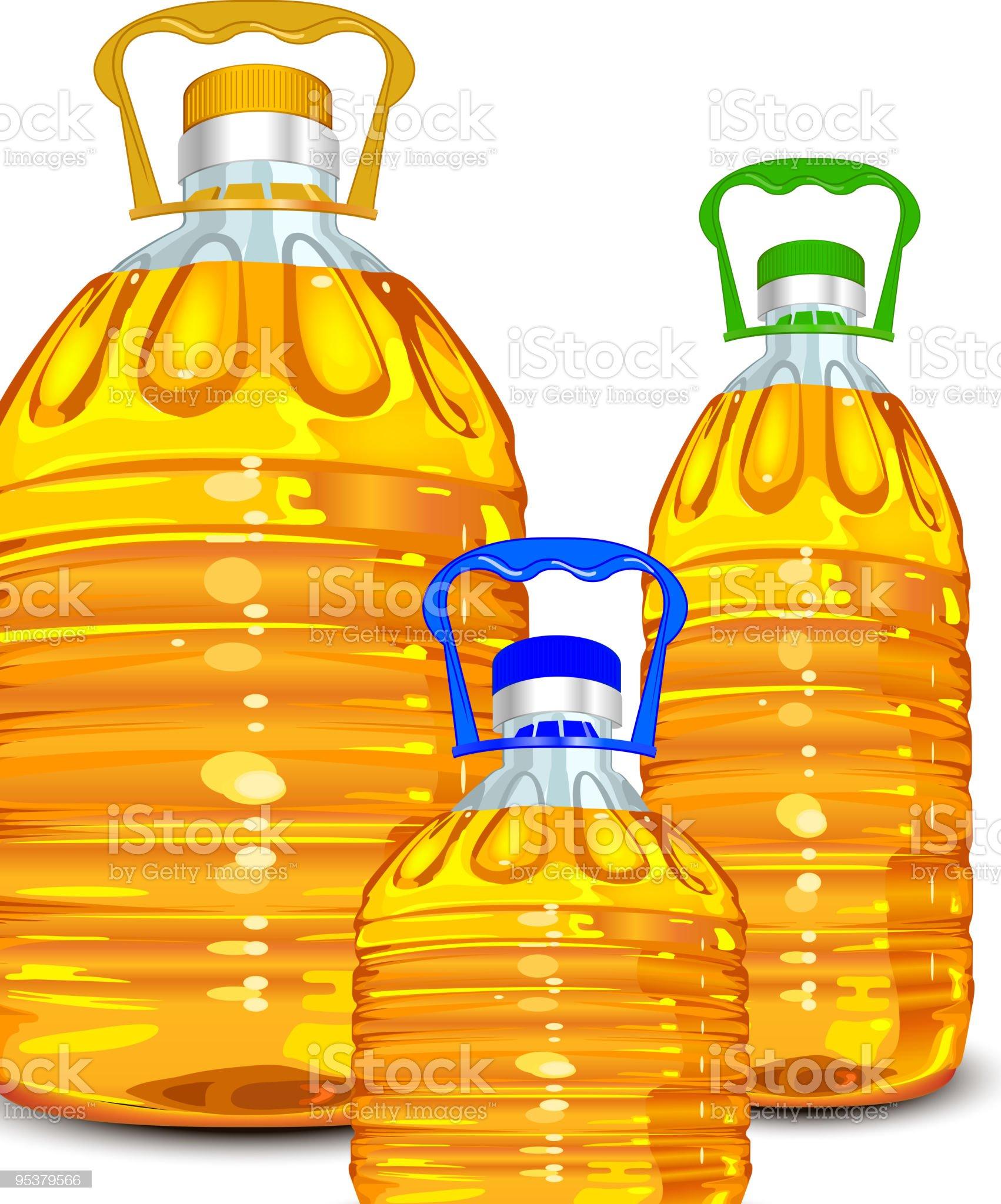 Oil bottles royalty-free stock vector art