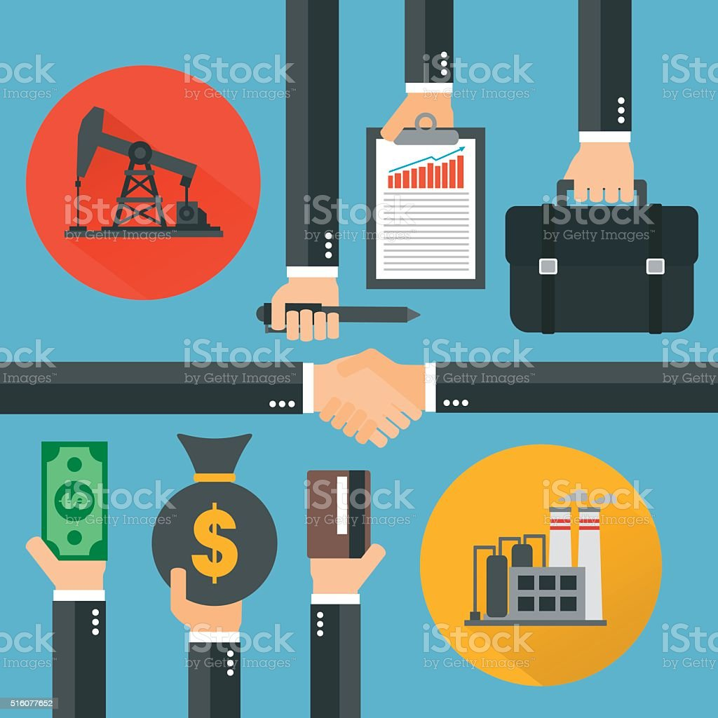 Oil business concept design flat ,vector illustration vector art illustration