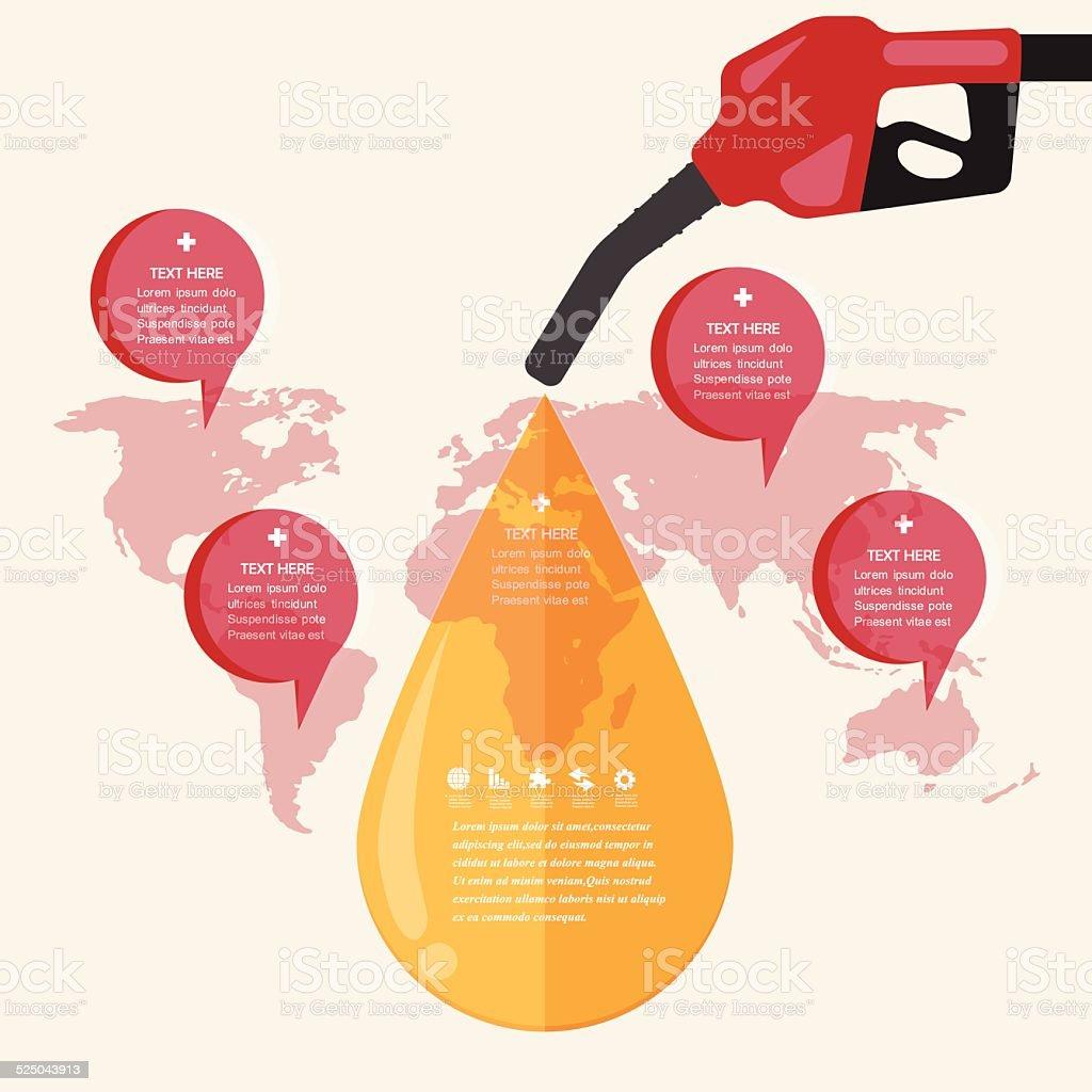 Oil Concept.vector Design EPS10. vector art illustration