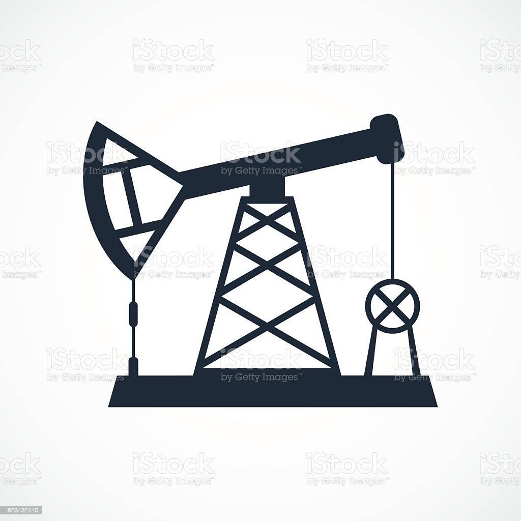 oil derrick icon vector art illustration