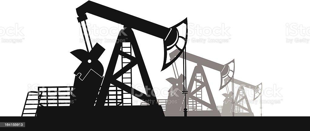 Oil derrick royalty-free stock vector art