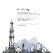 Oil Drilling Rig, Brochure Flyer Design