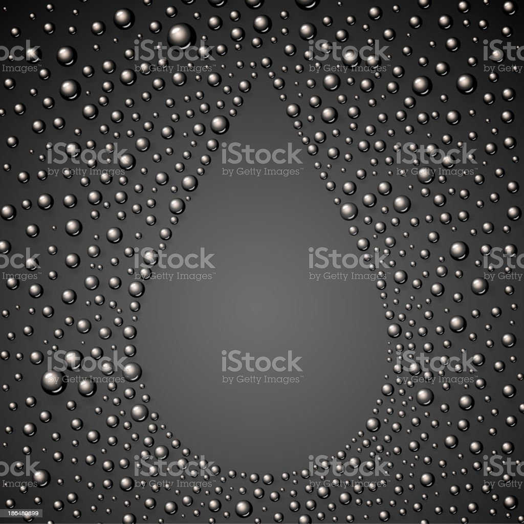 Oil drop abstraction. royalty-free stock vector art