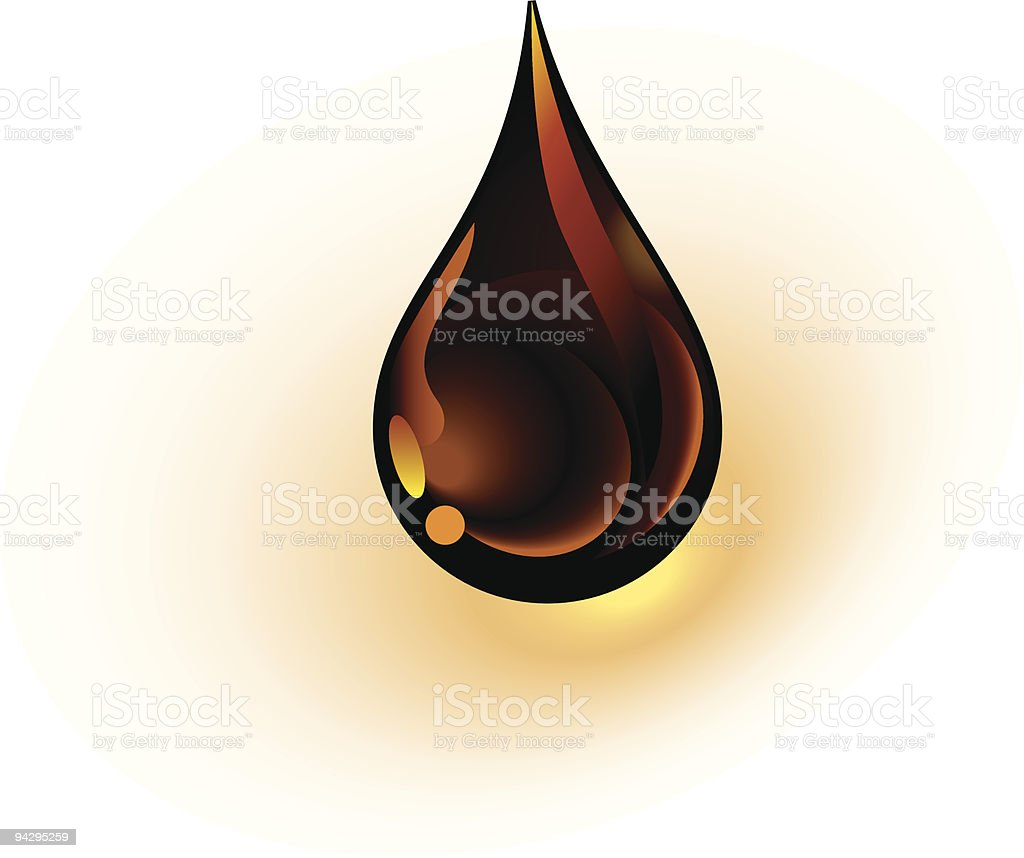 Oil drop royalty-free stock vector art