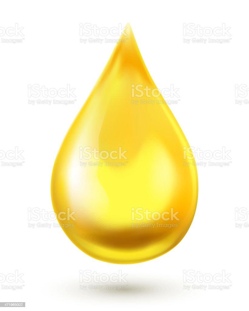 Oil drop. Vector illustration vector art illustration