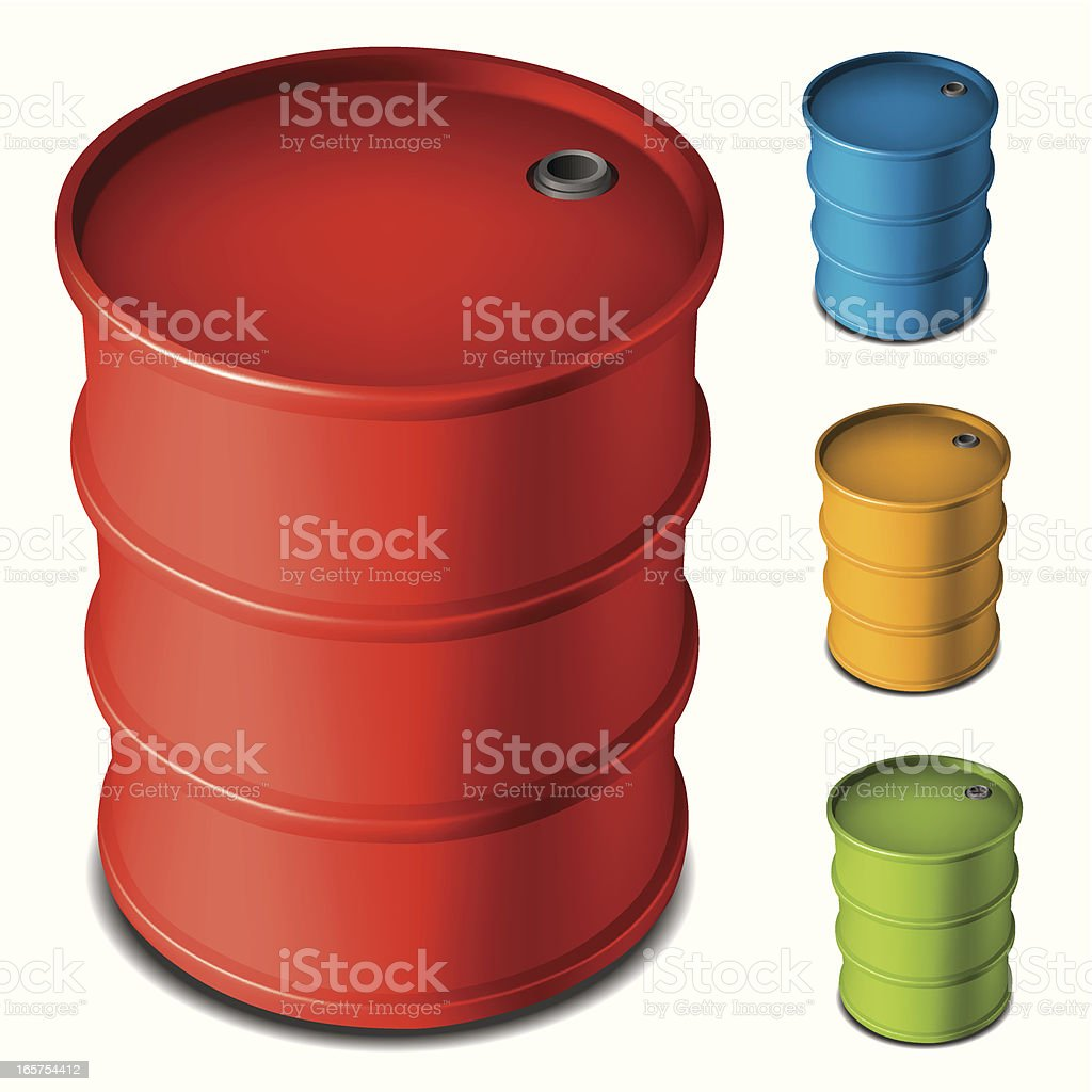 oil drum royalty-free stock vector art