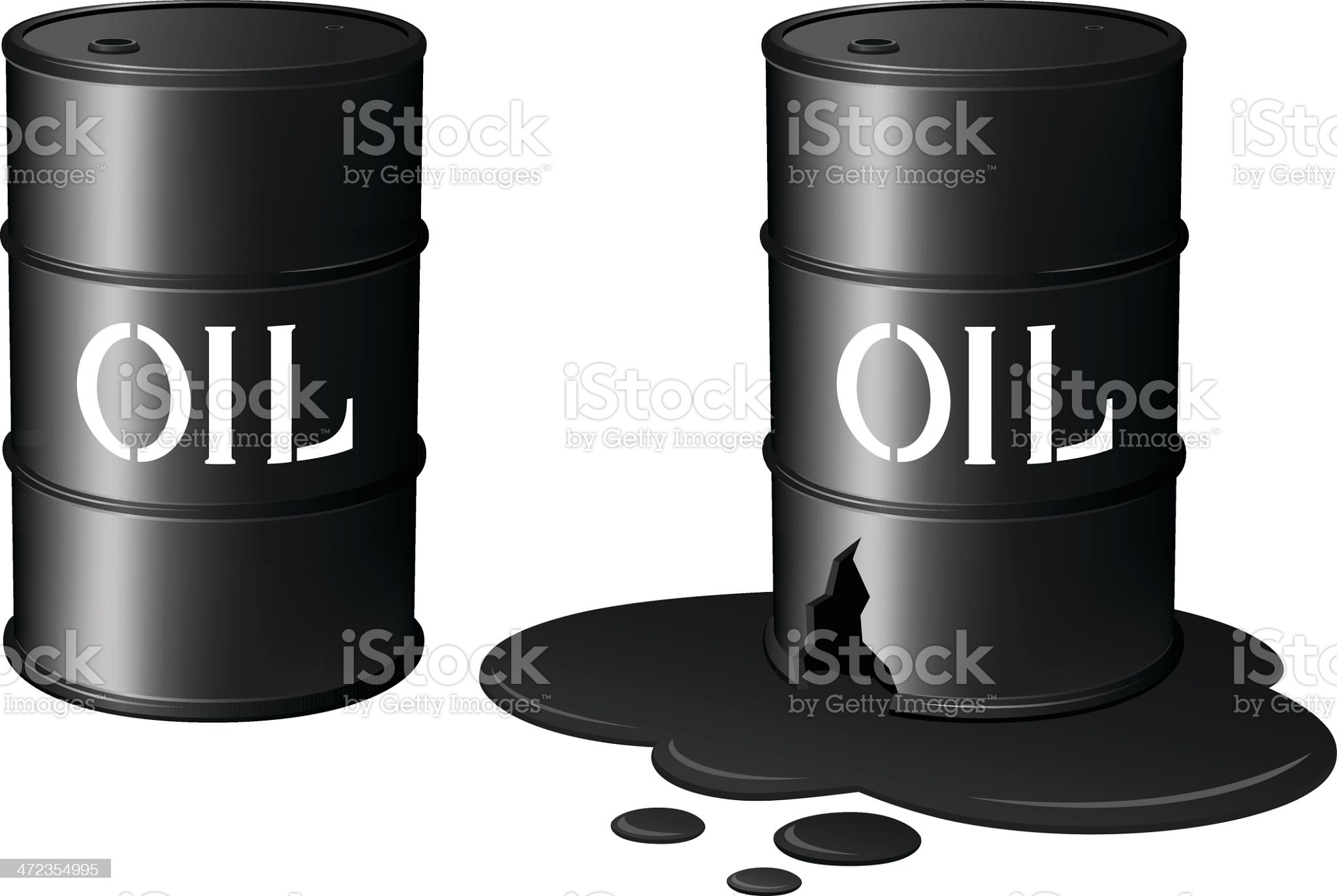 Oil Drums/Oil Spill royalty-free stock vector art