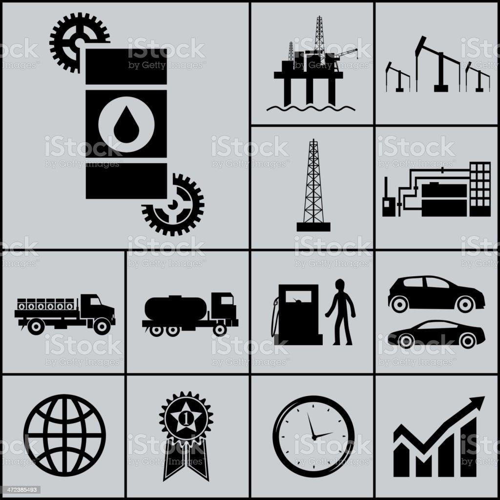 Oil Extraction Processing  Vector Illustration vector art illustration