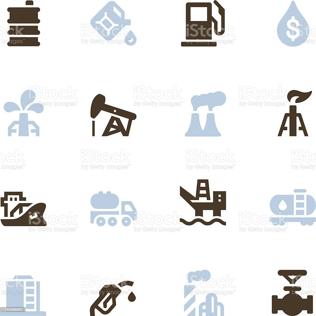 Oil Icons - Color Series vector art illustration