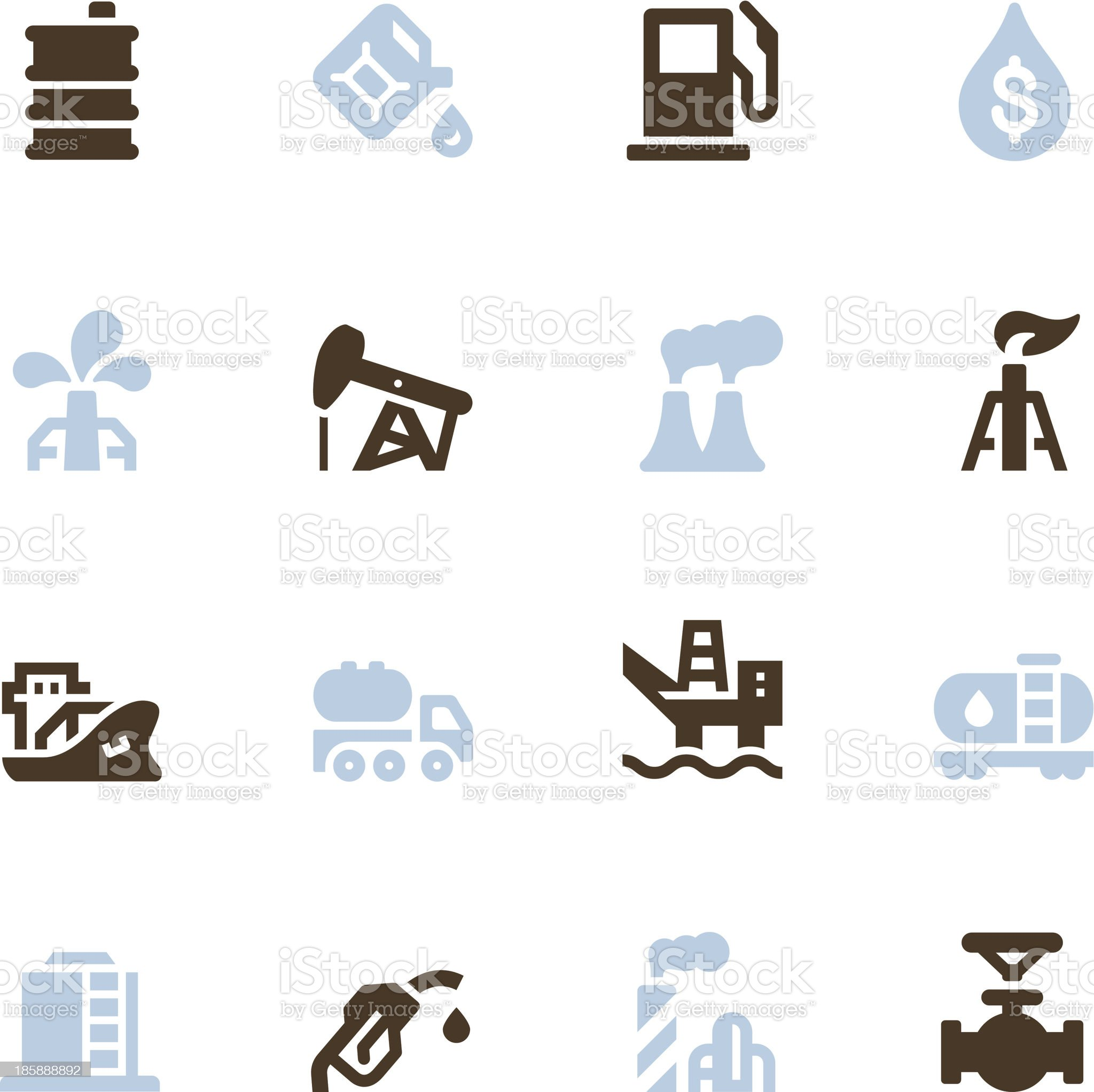 Oil Icons - Color Series royalty-free stock vector art