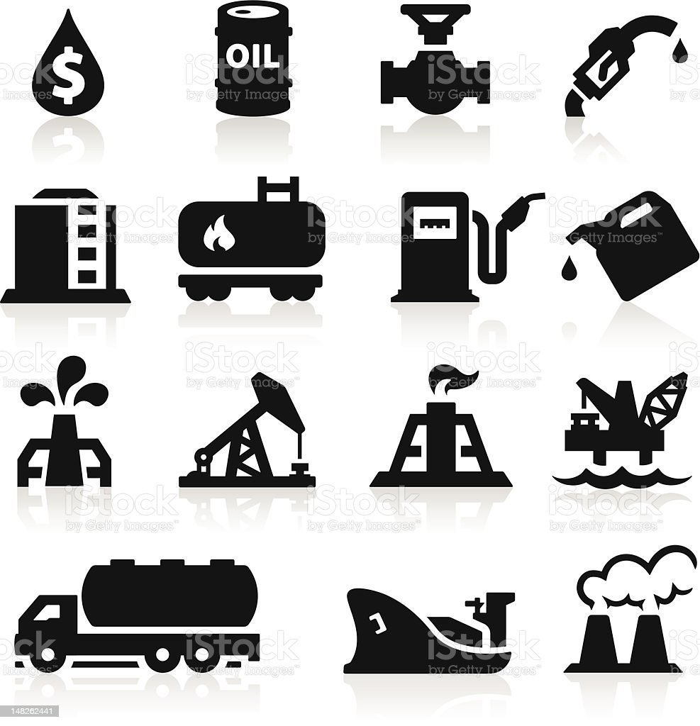 Oil icons vector art illustration