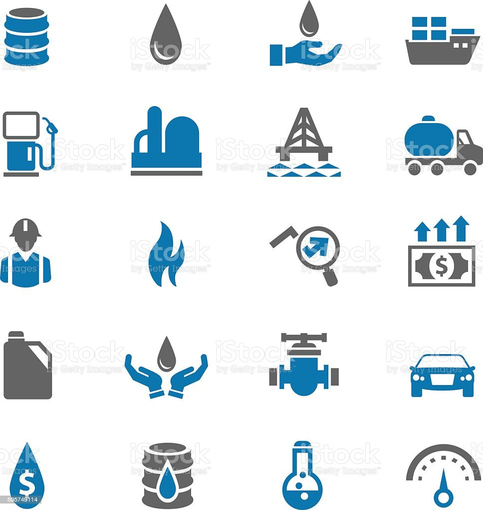 Oil icons vector art illustration