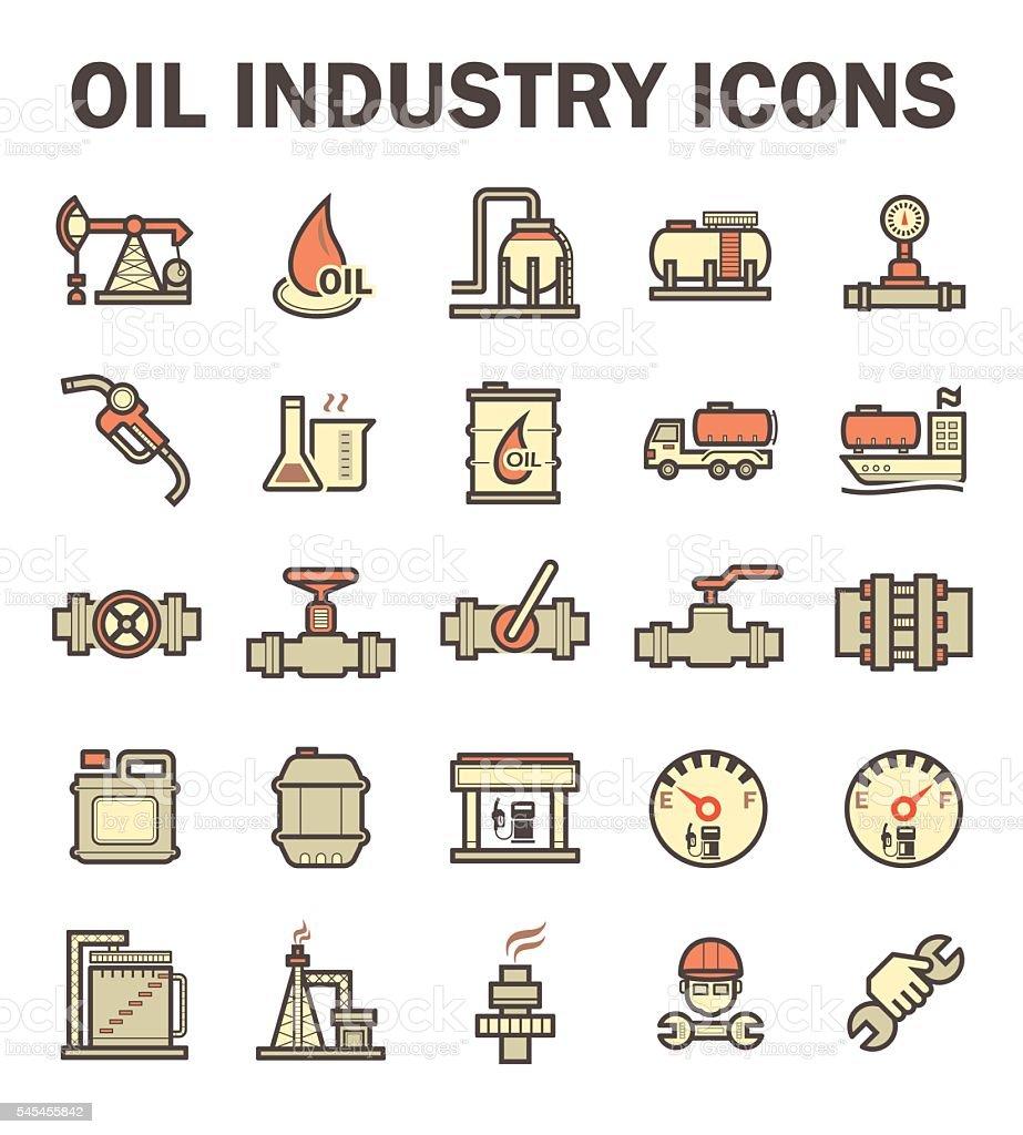 Oil industry icon vector art illustration