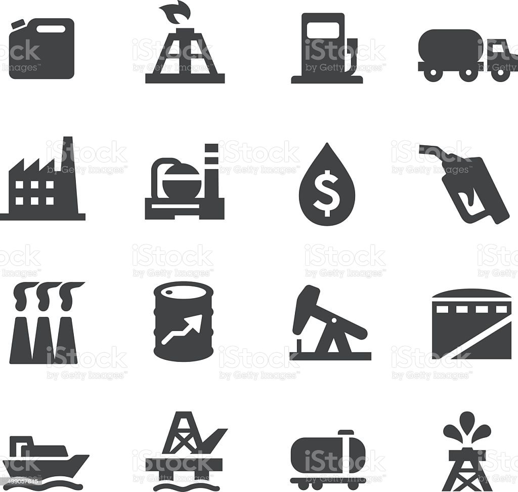 Oil Industry Icons - Acme Series vector art illustration
