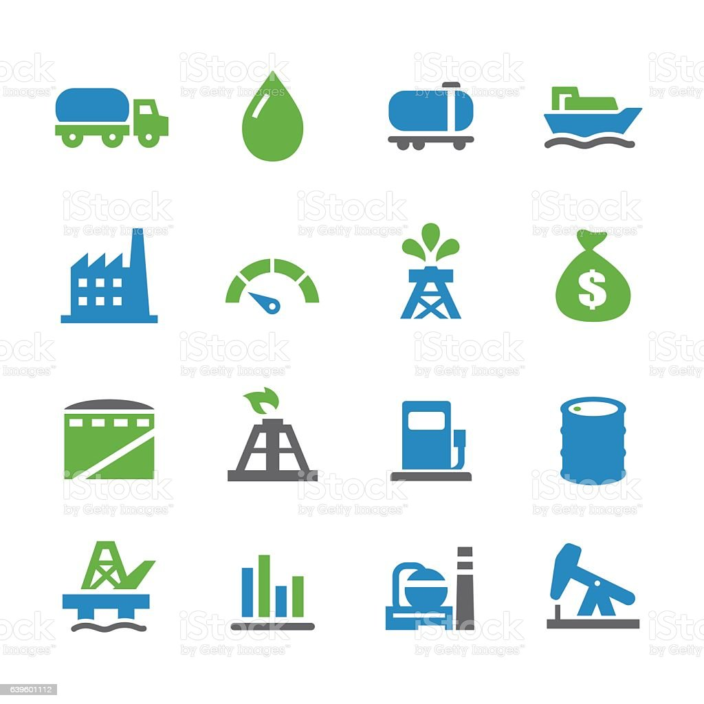 Oil Industry Icons - Spry Series vector art illustration
