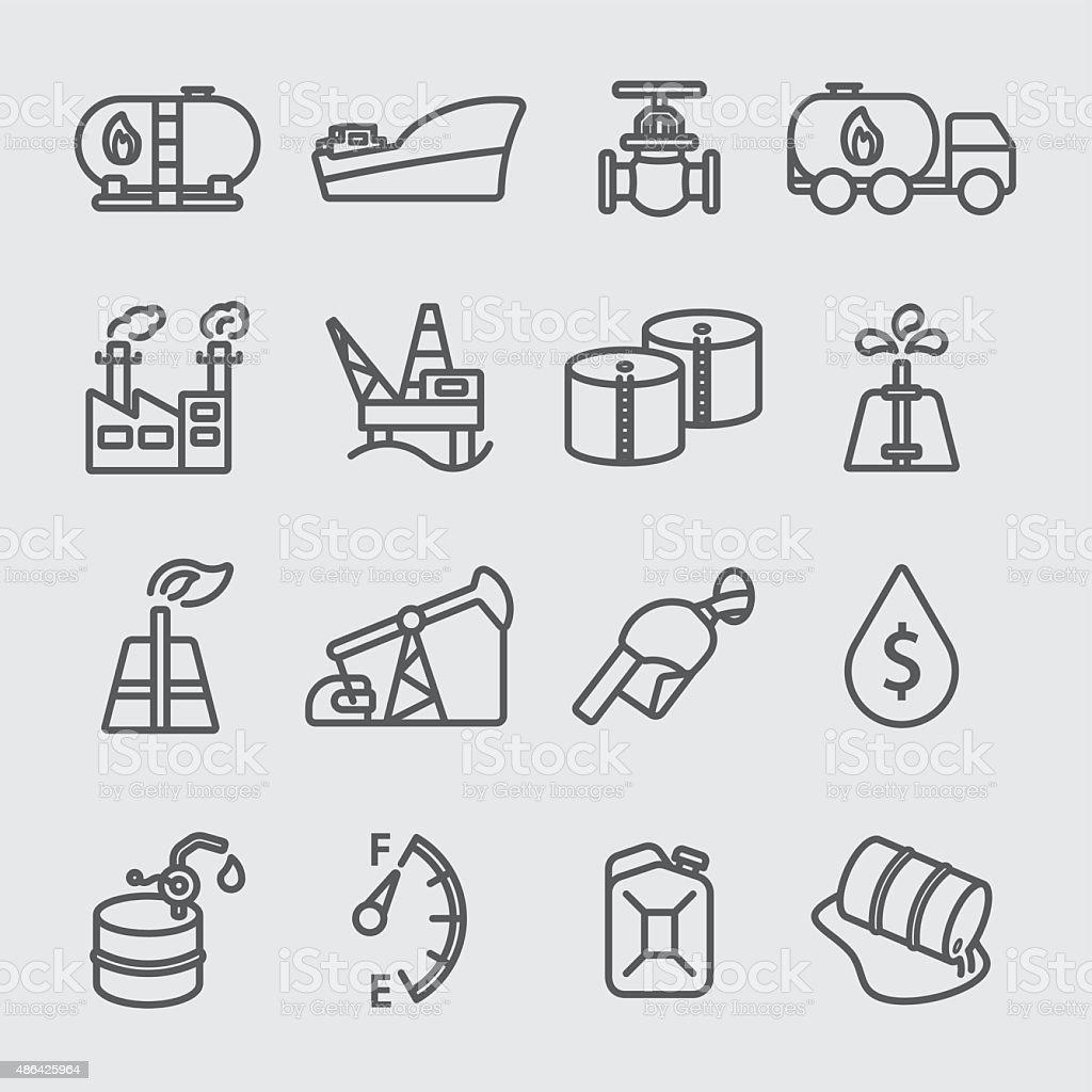 Oil industry line icon vector art illustration