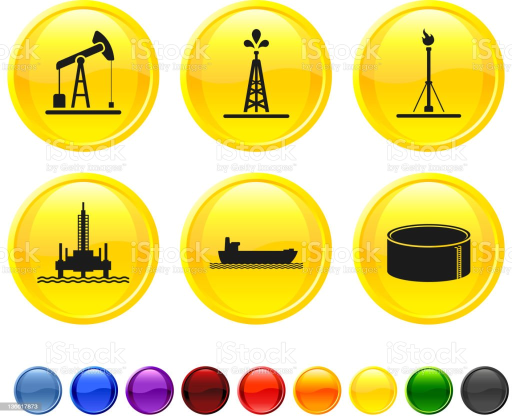 oil industry resources royalty free vector icon set vector art illustration